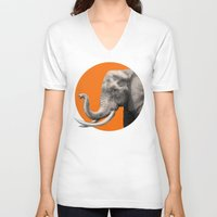 eric fan V-neck T-shirts featuring Wild 6 by Eric Fan & Garima Dhawan by Garima Dhawan