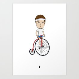 Bicycling Art Print