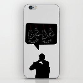 Evil to the bone. iPhone Skin