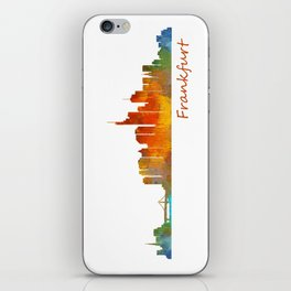 Frankfurt am Main, City Skyline, Citiscae art watercolor V1 iPhone Skin