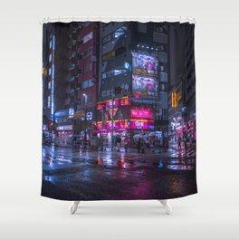 Shinjuku at night Shower Curtain