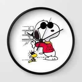 Joe Cool Snoopy Wall Clock