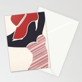 Vintage Beach Beauty - Red Swimsuit Stationery Cards