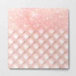 Luxury Rosegold Glitter Pearl Metal Print