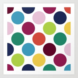 Colorful Dots Art Print