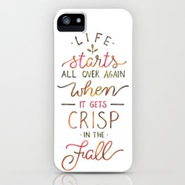 Crisp in the Fall - The Great Gatsby quote iPhone Case