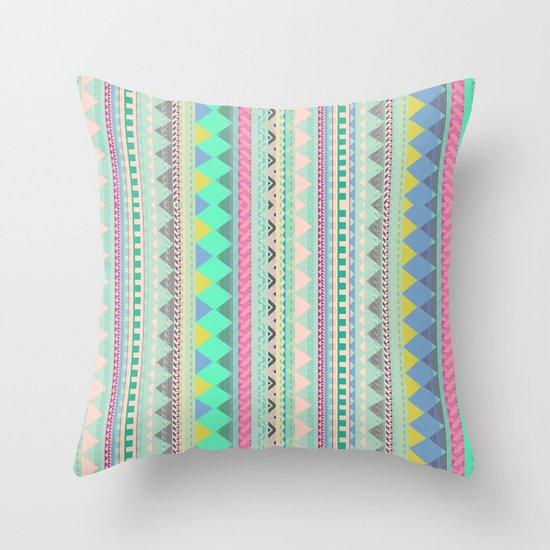PASTEL AZTEC Throw Pillow