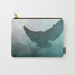 Owl Silhouette | Swooping Owl Ghost | Space Owl Carry-All Pouch