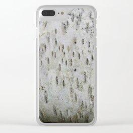 Birch Bark on a Fallen Tree Clear iPhone Case