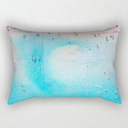 Bright Sandy Beach Rectangular Pillow