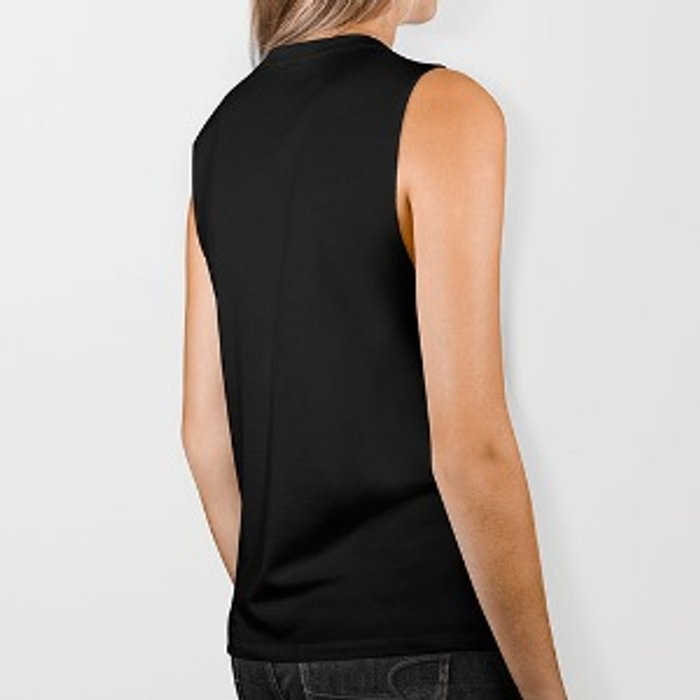 Hang on. Let me overthink this. Biker Tank