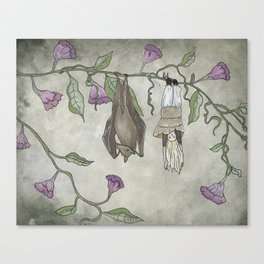 The Girl and the Bat Canvas Print