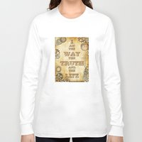 bible verse Long Sleeve T-shirts featuring Bible Verse Steampunk Way Truth Life by Whimsy and Nonsense