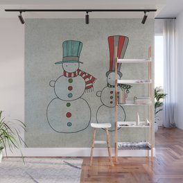 Snowmen Wall Mural
