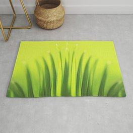 Palm Tree Sunlight Leaf Tropical Summer Green Yellow Hawaii Pattern Rug