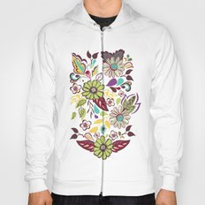 Large Bright Blooms Hoody