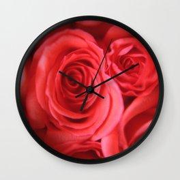 PINK ROSEBUDS Wall Clock