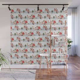 SANTA CLAUS gives presents to children Wall Mural