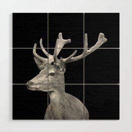 Deer Black Wood Wall Art