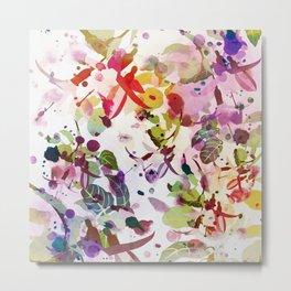 multicolore abstract fuchsia Metal Print