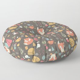 Baby fox pattern 04 Floor Pillow