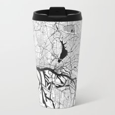 Hamburg City Map Gray Travel Mug
