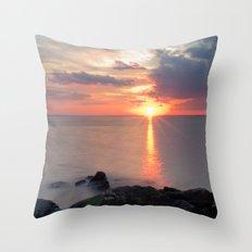 Sandy Hook Sunset Throw Pillow