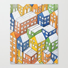 House on house Canvas Print