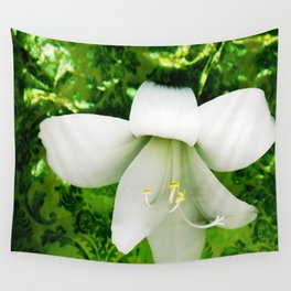 Innocent in green Wall Tapestry
