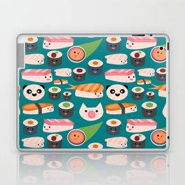 Kawaii sushi teal Laptop & iPad Skin