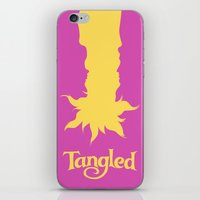 tangled iPhone & iPod Skins featuring Tangled by Citron Vert