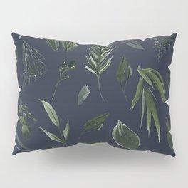 Winter Leaf Pattern 2 (Navy) Pillow Sham