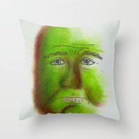grumpy Throw Pillows featuring Grumpy by Stro