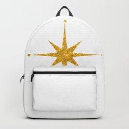 gold 8 point star Backpack