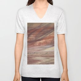 Hills Painted by Earth Minerals Unisex V-Neck
