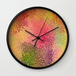 Abstract art watercolor minimalist poster orange Wall Clock
