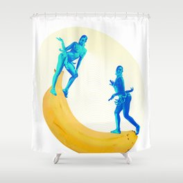 Josephine Plays at the Banana See-saw Shower Curtain
