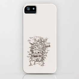 Howl's Moving Castle Plan iPhone Case