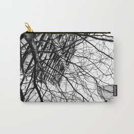 Tree Business Nature Merge BW Carry-All Pouch