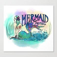Mermaid Motel Canvas Print