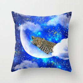 Relax in The moon Throw Pillow