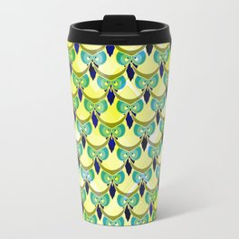 Tired owls in yellow Travel Mug
