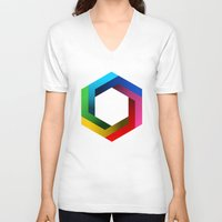psychology V-neck T-shirts featuring Bequiz by Bequiz