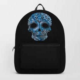 Blue Lace Sugar Skull Backpack
