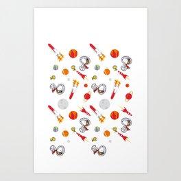 Snoopy Space Art Print