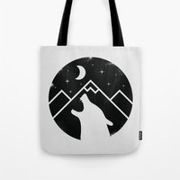 howl Tote Bags featuring Howl by Mateus Quandt