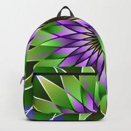 Lavender lotus mandala Backpack