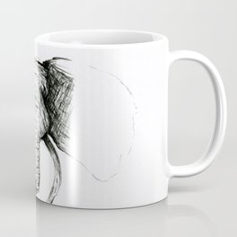 Sketch Elephant Coffee Mug