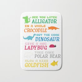 See You Later Alligator Bath Mat