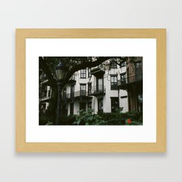 White Brooklyn Building Framed Art Print